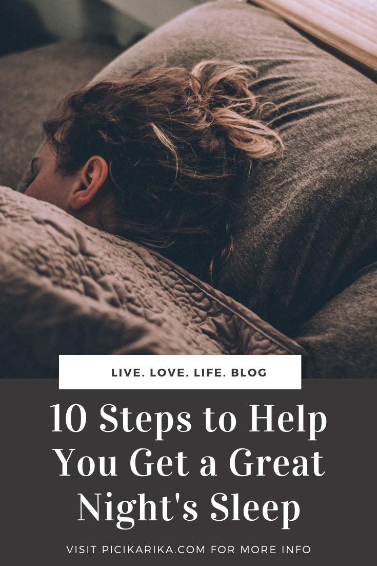 10 Steps to Help You Get a Great Night's Sleep